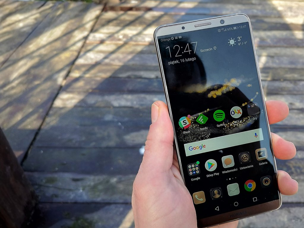 Huawei Mate 10 Pro z Androidem Pie  Bateria i aparat