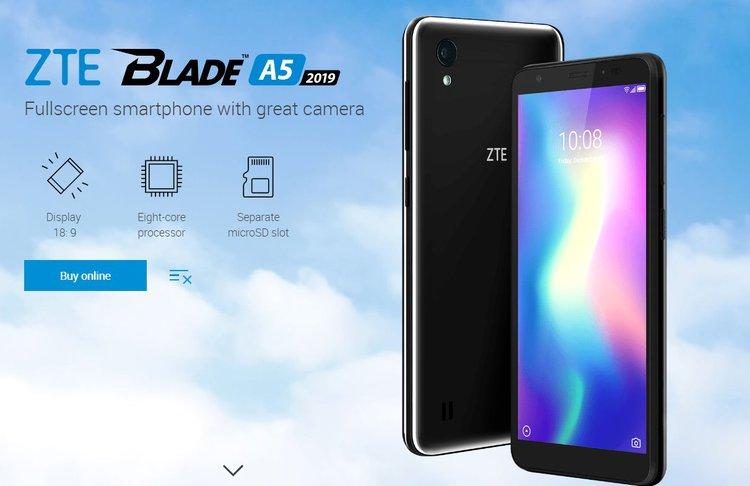 Zadebiutował tani ZTE Blade A5 2019 z 5,45-calowym wyświetlaczem - tani smartfon