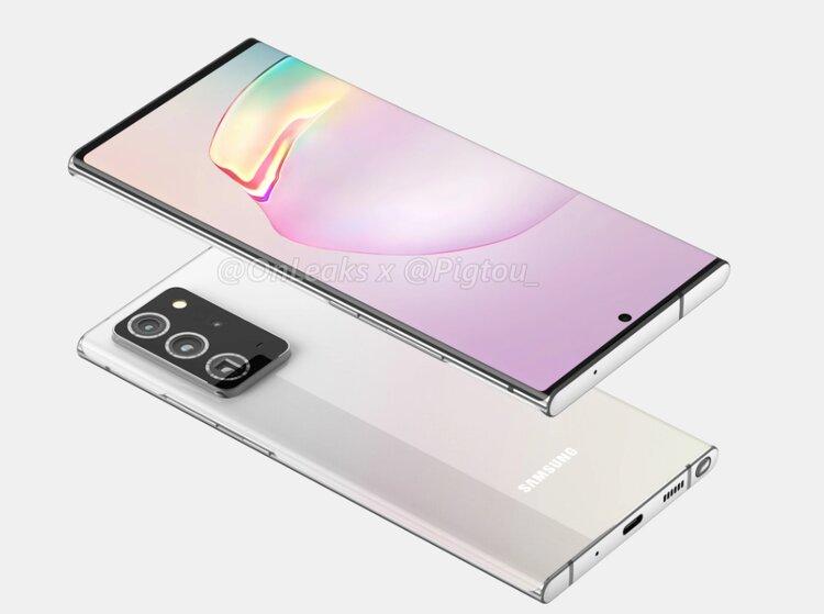 Samsung Galaxy Note 20+ pozuje na pewnych renderach. Wygląda zaskakująco… ładnie -
