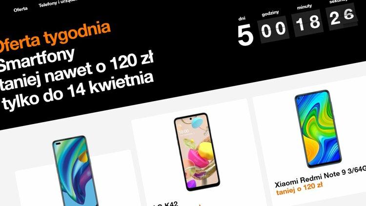 Oferta tygodnia w Orange, czyli wybrane smartfony LG, Xiaomi i OPPO taniej przez najbliższe dni - abonament w Orange