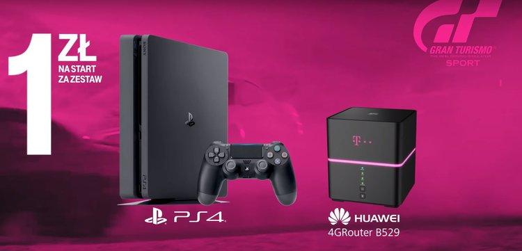 Nielimitowany internet domowy od T‑Mobile w zestawie z PlayStation 4. To się opłaca - Internet domowy PlayLink PlayStation 4