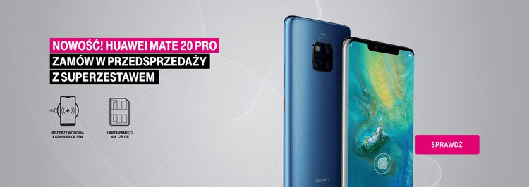 Huawei Mate 20 Pro w T-Mobile. Od jutra wysyłka, a do tego jeszcze przydatne prezenty - Huawei Mate 20 Pro w T-Mobile